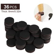 36PCS Anti Slip Furniture Rubber Pads 1inch Thick Non Slip Furniture Feet Felt Hardwood Stopper Self Adhesive Round Anti Skid Chair Couch Sofa Furniture Gripper Protector for Hardwood Floor