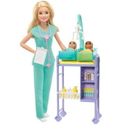 Barbie Careers Baby Doctor Playset With Blonde Doll, 2 Infant Dolls, Toy Pieces