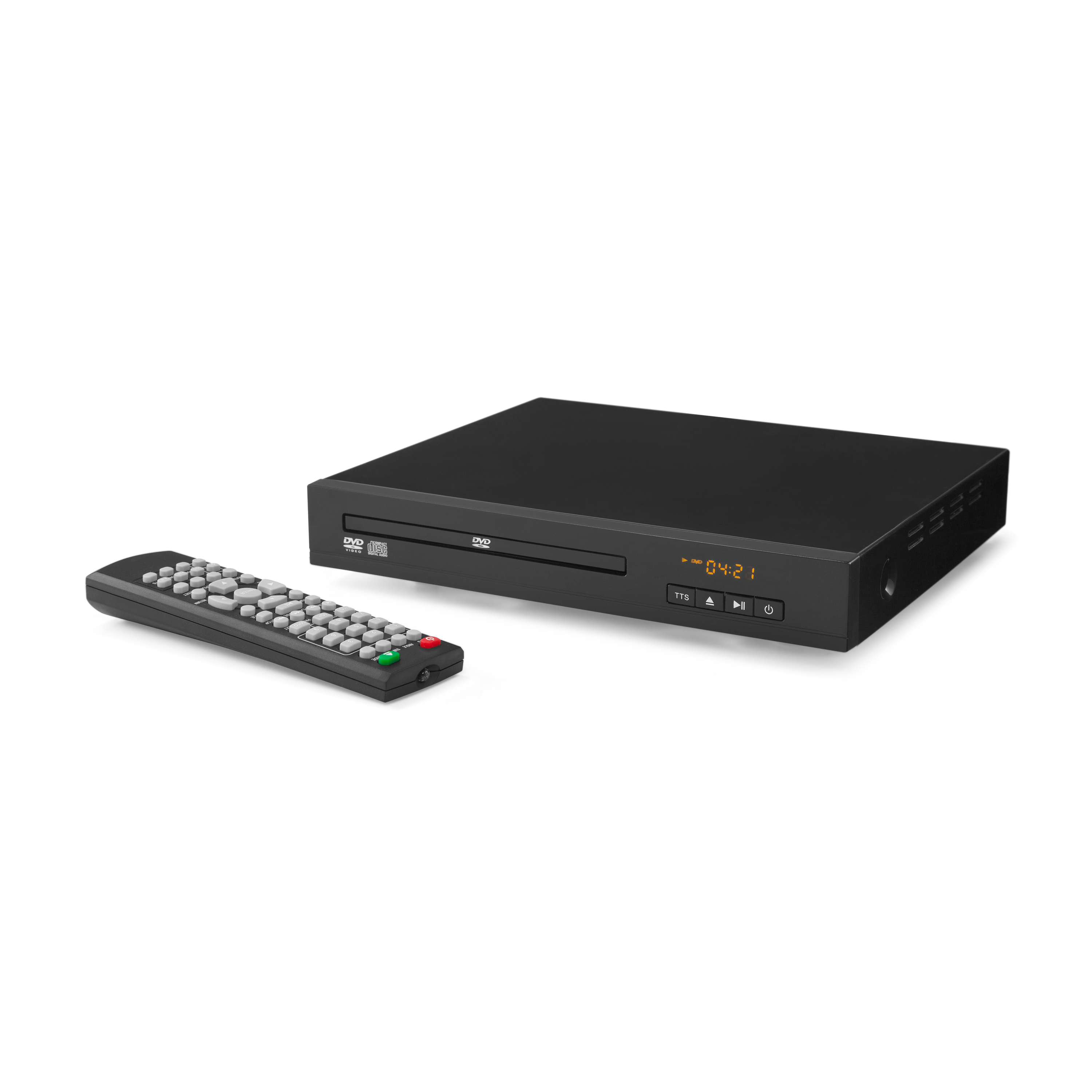 ONN Compact DVD/DVD-RW Player with Remote, 8.85""