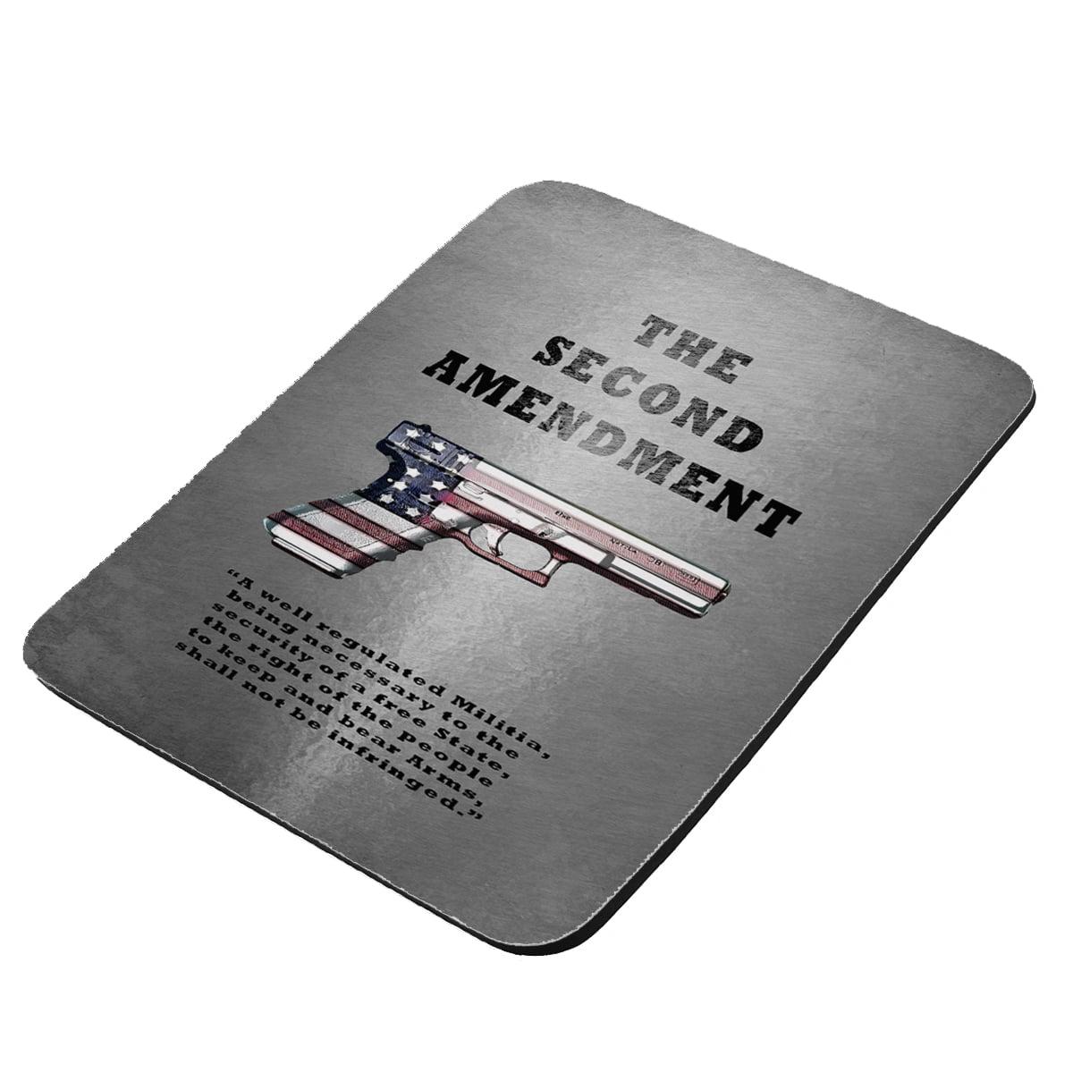 Second Amendment American Flag Gun - KuzmarK Mousepad / Hot Pad / Trivet