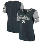 New York Yankees '47 Women's Match Tri-Blend Notch Neck T-Shirt - Navy