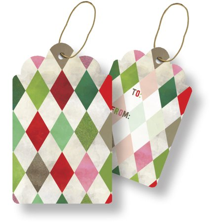 Jillson & Roberts Gift Tags with Tie String, Holiday Harlequin (100 Pcs) Jillson & Roberts Gift Tags with Tie String, Holiday Harlequin (100 Pcs)