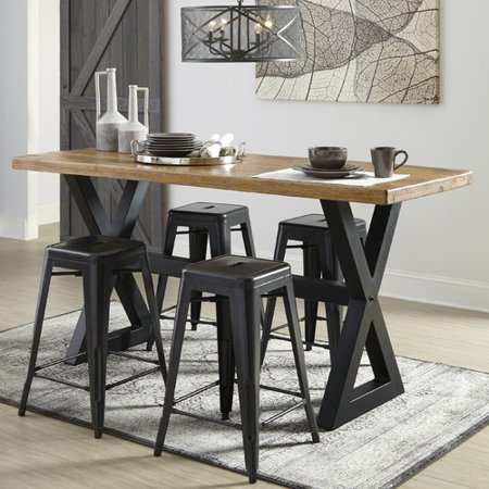 Counter Height Modern Dining Table : ... Modern Farmhouse Fabien Counter Height Dining Table - Walmart.com