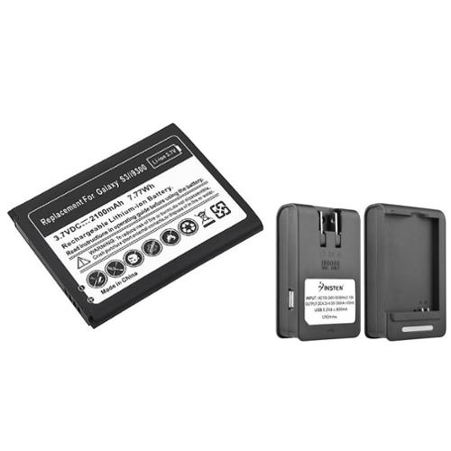 Insten New 2100mah Battery + Charger for Samsung Galaxy SIII S3 i9300/T999/i535/L710