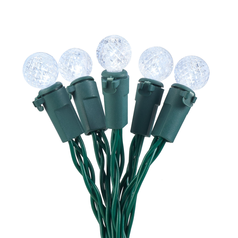 Holiday Time 50 Warm White LED Mini Lights 13.5 Ft~Christmas//Wedding String Bulb