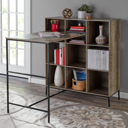 Mainstays 9-Cube Standing Storage Desk, Rustic