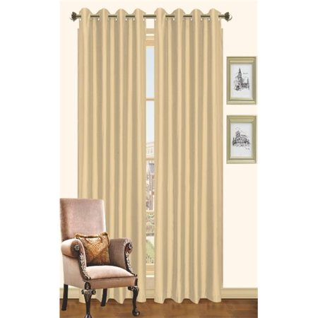 Holly Faux Silk Grommet Window Panel 2 Pack - 57 x 90 -Teal ...