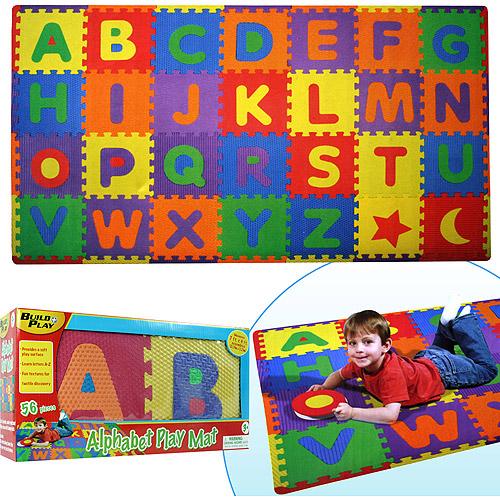 Trademark Games Build & Play Alphabet Play Mat, 56-piece