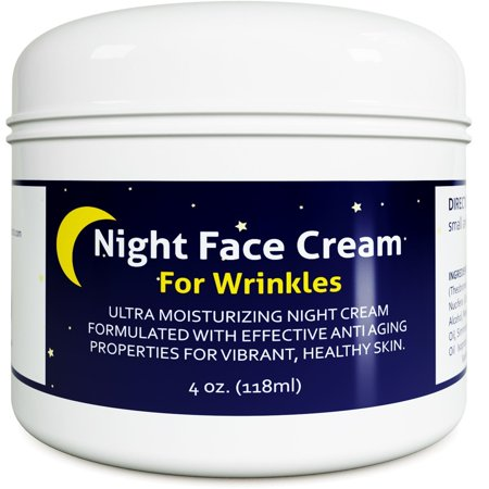 Anti Aging Night Cream Moisturizer for Dry Skin - Firming Cream For Women & Men - Best Anti Wrinkle Cream for Sensitive Skin - Collagen Booster - All Natural Skin Care with Antioxidants & Shea