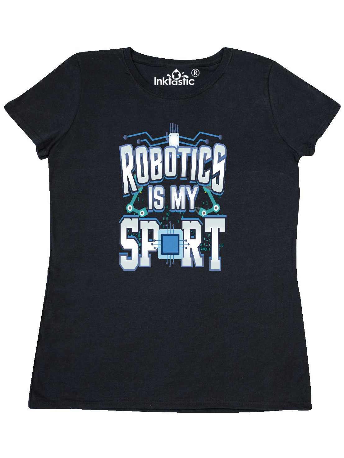 076d36d5 Inktastic - Robotics is my Sport Funny Engineering Women's T-Shirt -  Walmart.com