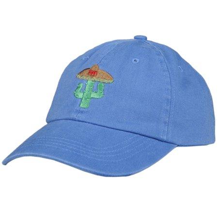 9dc8f148978b9 CITY HUNTER - Sombrero Cactus Dad Hat Curved Baseball Cap Unstructured Strap  City Hunter Blue - Walmart.com