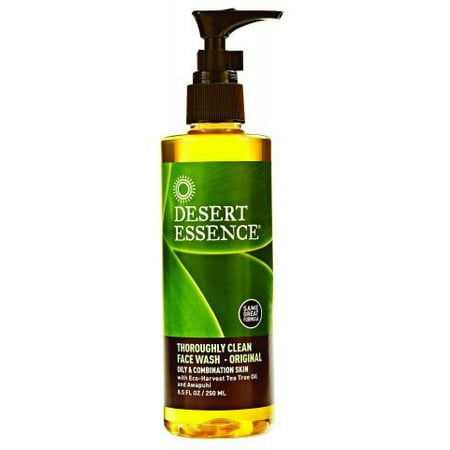 Desert Essence Original Thoroughly Clean Face Wash, 8.5 fl (Natural Face Wash)