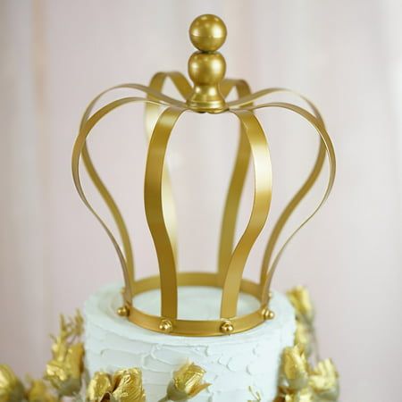 Birthday Princess Decorations (BalsaCircle 9-Inch tall Gold Metal Crown Cake Topper Princess Kids Birthday Wedding Party Event Centerpiece Decorations)