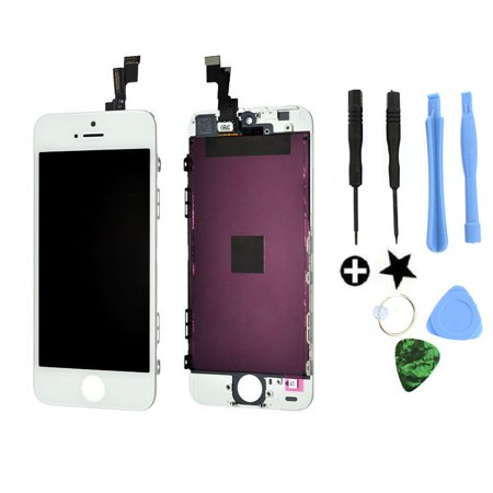 TekDeals White LCD Display+Touch Screen Digitizer Assembly Replacement for iPhone
