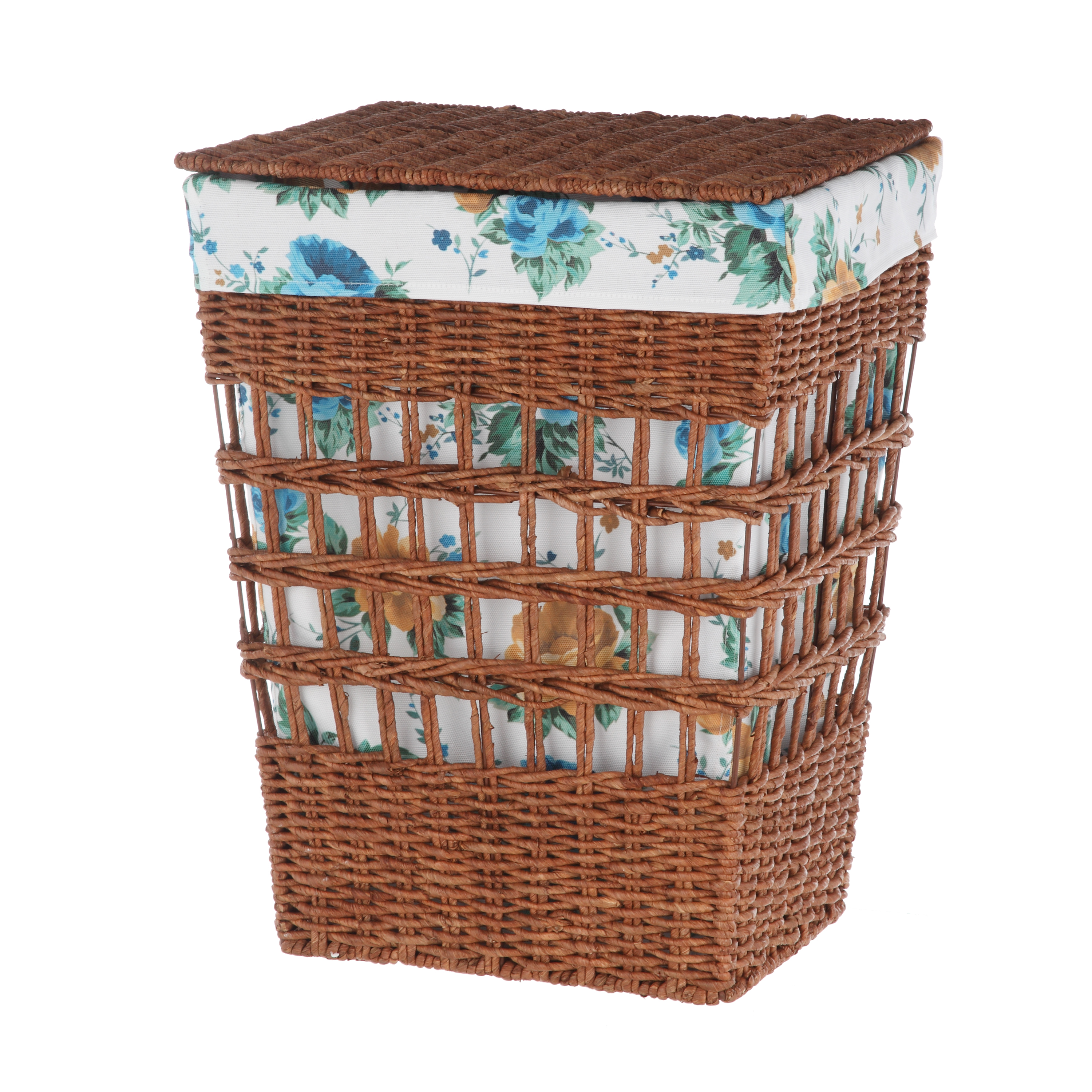 Pioneer Woman Rectangle Maize Hamper - White Floral