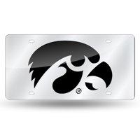 Iowa License Plate Tag in Silver