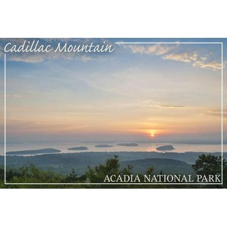 Acadia National Park, Maine - Cadillac Mountain Print Wall Art By Lantern Press Cadillac Mountain Acadia National Park