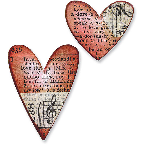 Sizzix Movers & Shapers Repositionable Magnetic Die, Tim Holtz Alterations, Hearts