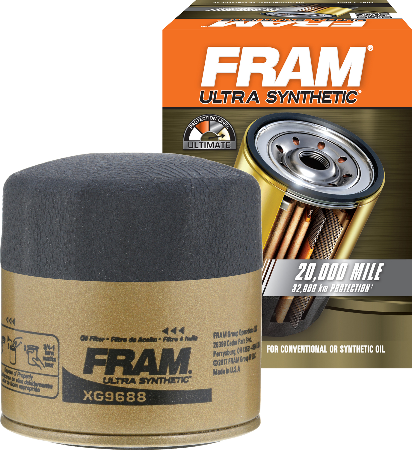 FRAM Ultra Synthetic Oil Filter, XG9688