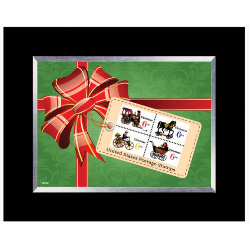 American Coin Treasures Decorative Christmas Toy United States Stamp Collection Framed