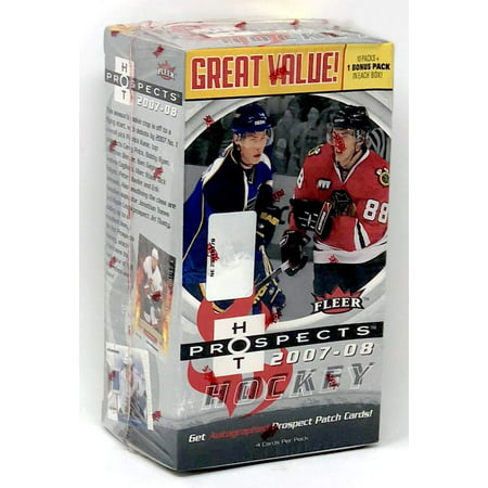 2007-08 Fleer Prospects NHL Hockey Value Box - Get Autographed Prospect Patch Cards