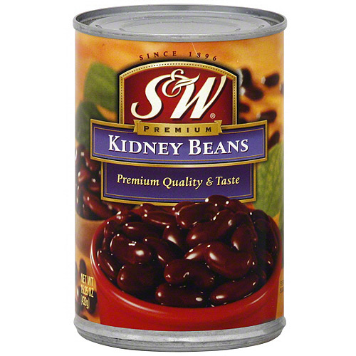 S&W Premium Kidney Beans, 15.25 oz (Pack of 12)
