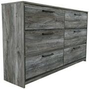 Ashley Furniture Baystorm 6 Drawer Double Dresser in Smokey Gray