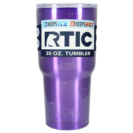 RTIC 30 oz Purple Princess Glitter Stainless Steel Tumbler Cup ()
