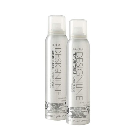 Maximum Hold Finishing Protectant (Texture Tousle Flexible Finisher - Regis DESIGNLINE - Heat Styling Protectant, Hair Spray that Helps Hold Hair in Place and Create a Full and Tousled Look (2 Pack))