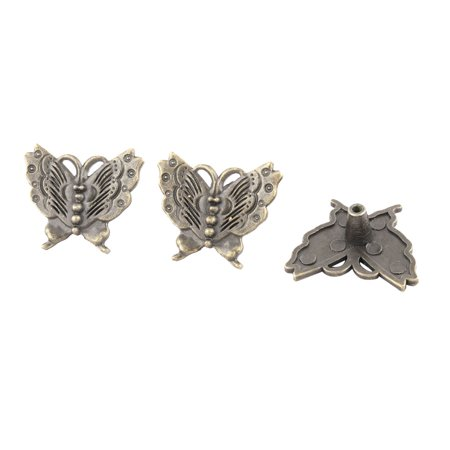 Home Butterfly Vintage Style Drawer Cabinet Pull Knob Handle Bronze Tone (Vintage Handled)