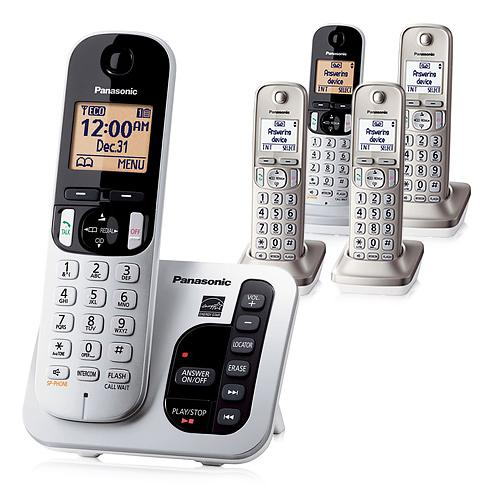 Panasonic KX-TGC225S DECT 6.0 1.9GHz 5 Handset Expandable Cordless Phone