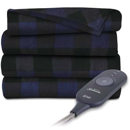 Sunbeam Electric Heated Fleece Throw Blanket, 60-Inch by -