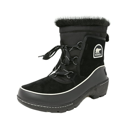 Sorel Women's Tivoli Iii Black / Light Bisque High-Top Leather Snow Boot - 8M - Iii Snow Boot