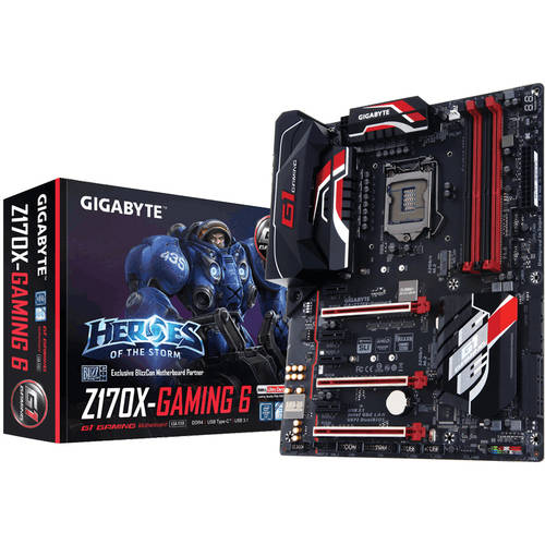 GIGABYTE GA-Z170X-GAMING 6 LGA 1151 Intel Z170 Ultra-Durable Gaming ATX Motherboard with USB 3.1 Type C, M.2