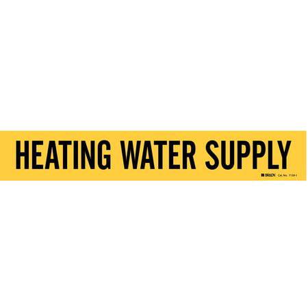 Pipe Marker,Heating Water Supply,Yellow BRADY 7130-1