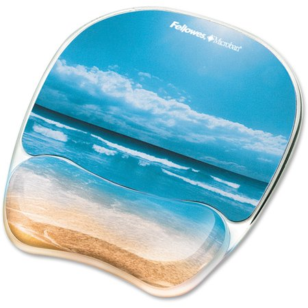 Fellowes Photo Gel Mouse Pad Wrist Rest with Microban, 1,