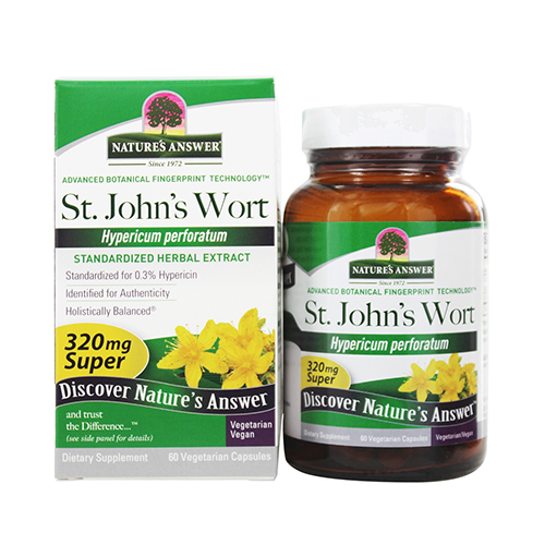 Nature's answer St. John's Wort Herb Super, 60 cap vegi