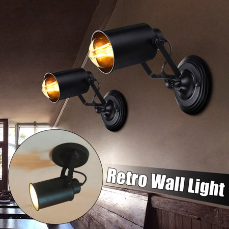 Adjustable Vintage Industrial Swing Arm Sconce Wall Light Loft Lamp Fixture
