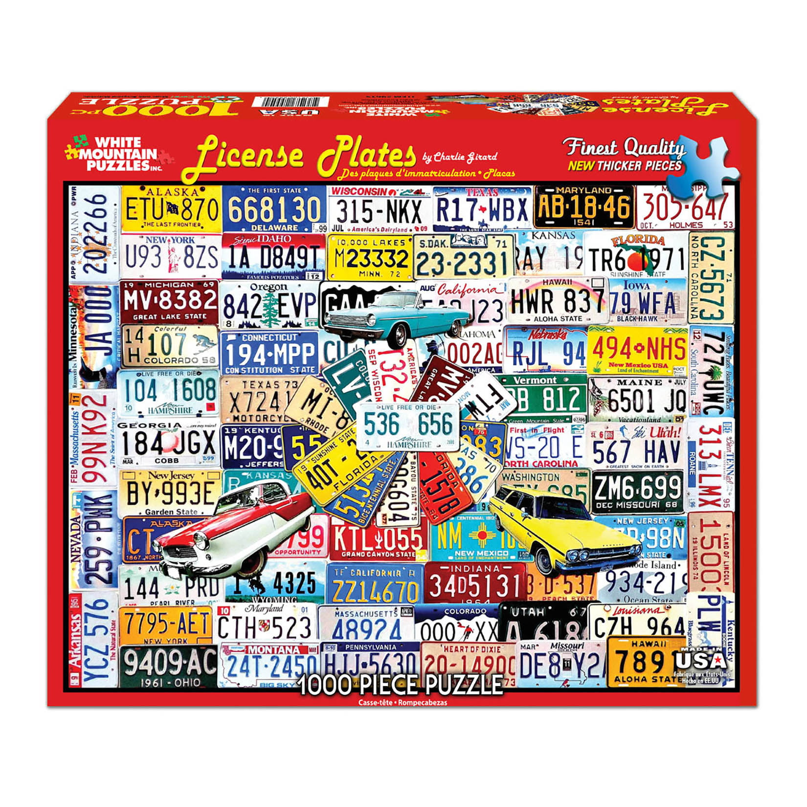 White Mountain Puzzles License Plates 1000 Piece Jigsaw Puzzle by White Mountain Puzzles