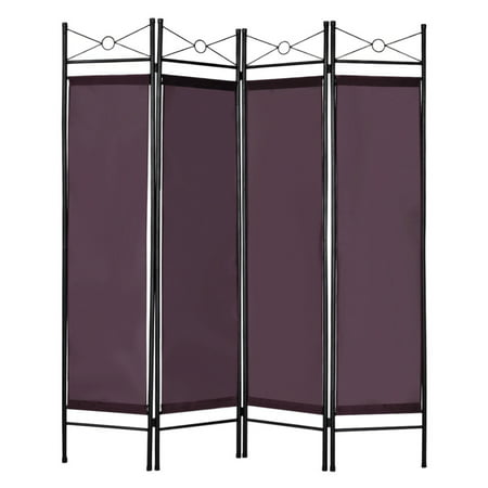 Pets Divider Panel - Costway 4 Panel Room Divider Privacy Screen Home Office Fabric Metal Frame