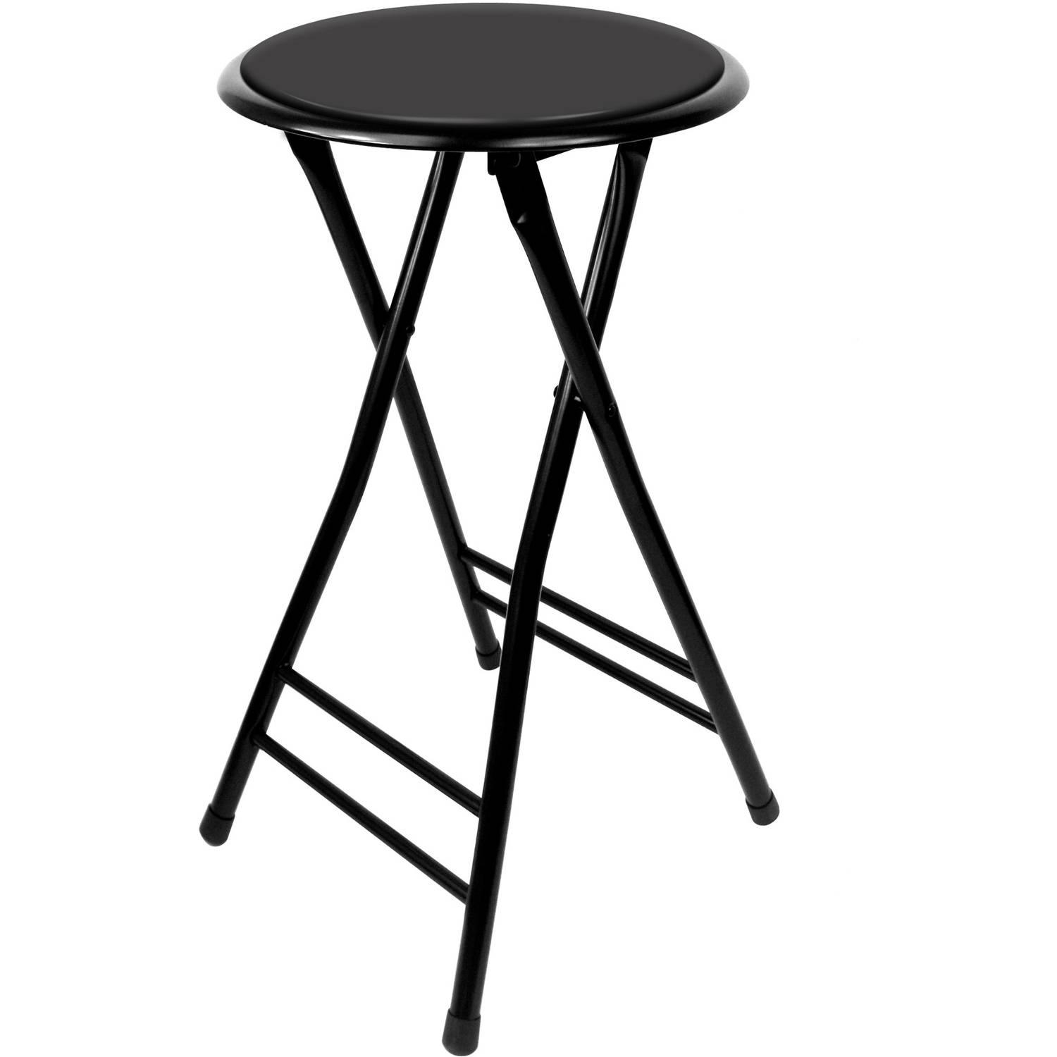 Folding Stool Heavy Duty 24 Inch Collapsible Padded Round Stool