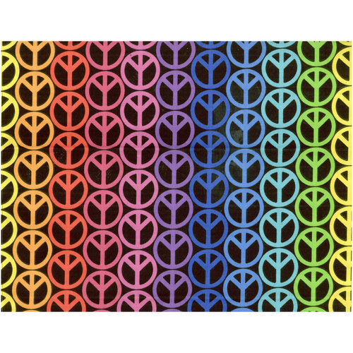Peace Signs Fabric
