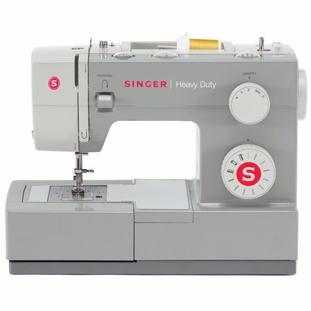 Singer Heavy Duty 4411 Sewing Machine with 11 Built-in Stitches, Strong Motor & 4 Step Buttonhole, Perfect for Sewing all Types of Fabrics with Ease, Even
