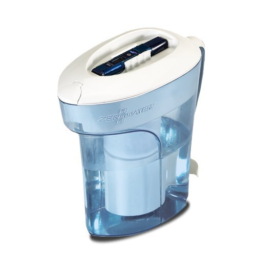 ZeroWater ZP-010 10-Cup Pitcher w/ 5-stage Dual Ion Excha...