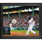 "David Ortiz Boston Red Sox Fanatics Authentic Framed 20"" x 24"" Retirement Gamebreaker Photograph with a Game Used 2016 Final Season Baseball - No Size"