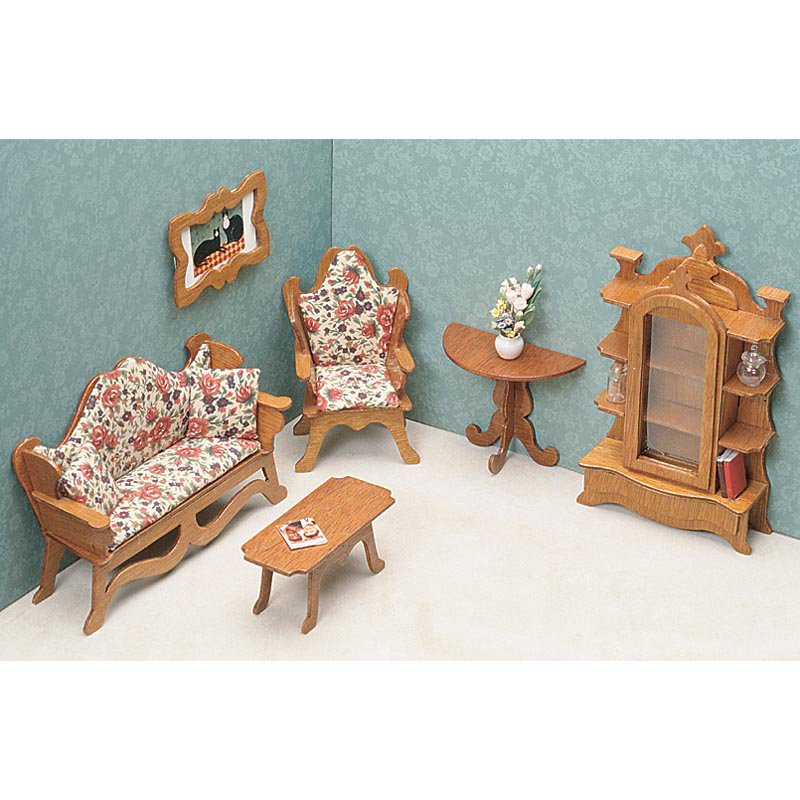 Greenleaf Living Room Furniture Kit  Set - 1 Inch Scale