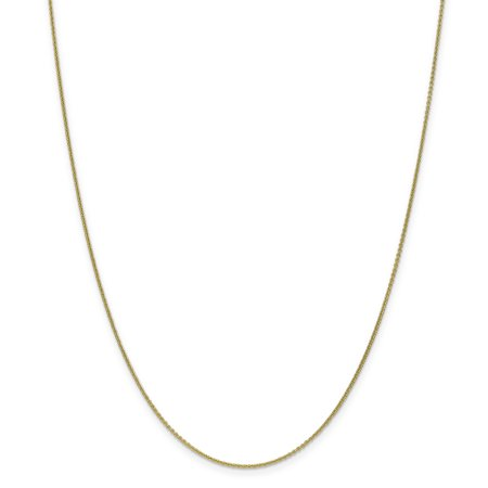 10k Yellow Gold 1mm Link Cable Chain Necklace 30 Inch Pendant Charm Round Gifts For Women For Her