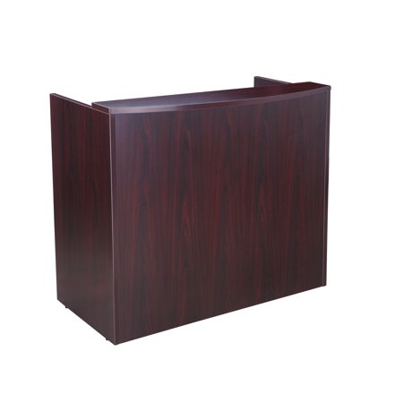 Boss Office Products Transitional Mahogany 48 inch Reception Desk