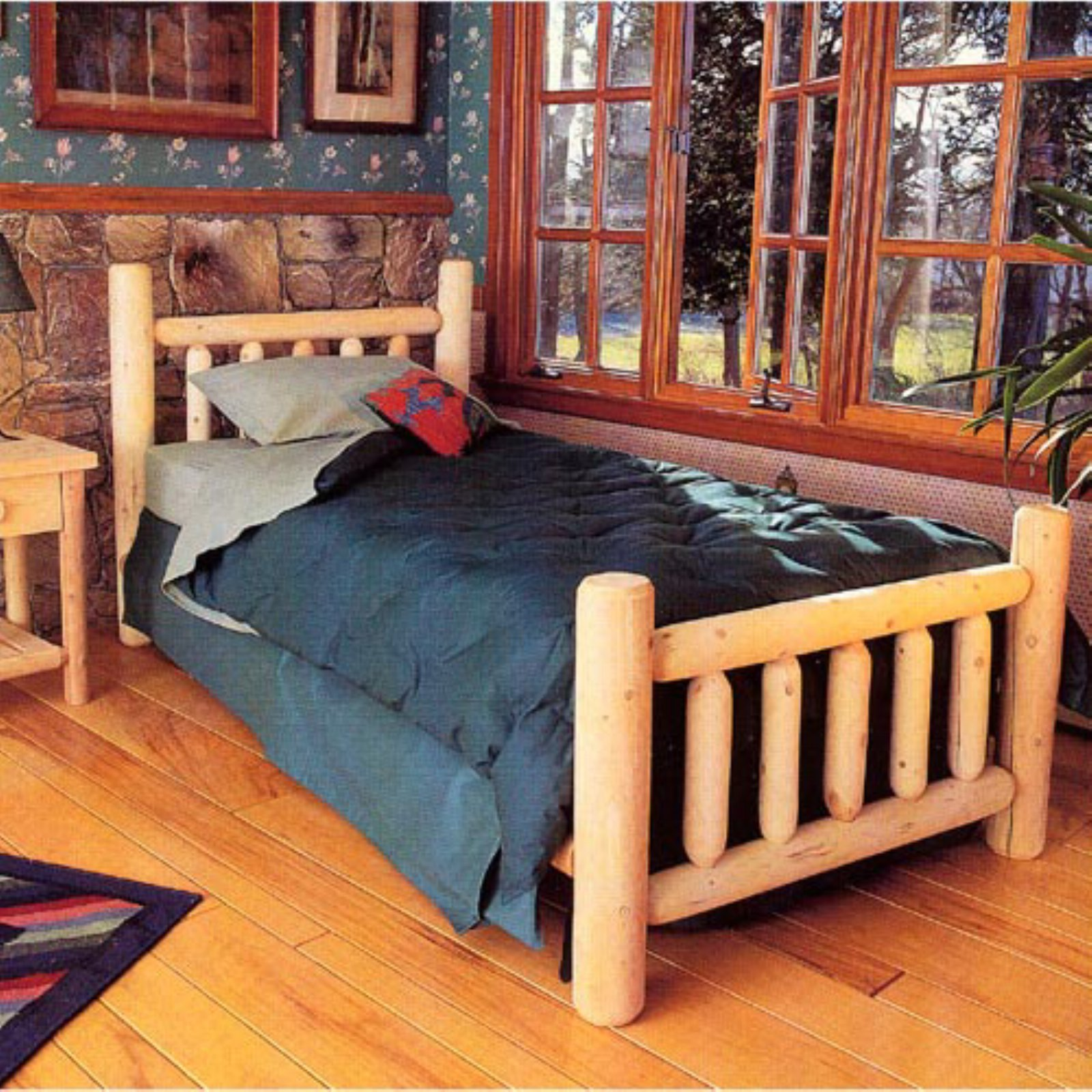 Rustic Natural Cedar Furniture Wheatfields Bed