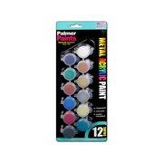 Palmer Acrylic Paint Set 12 Pot Metals